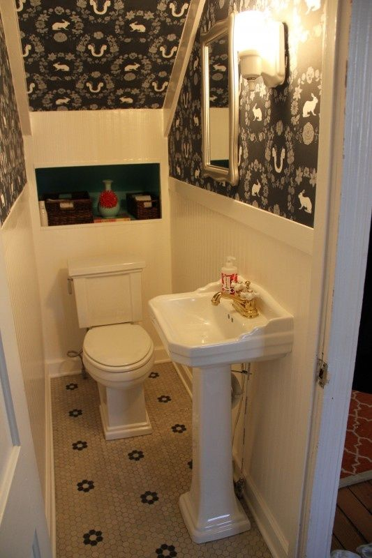 utilizing under stairs space for adorable small bathrooms ideas ms