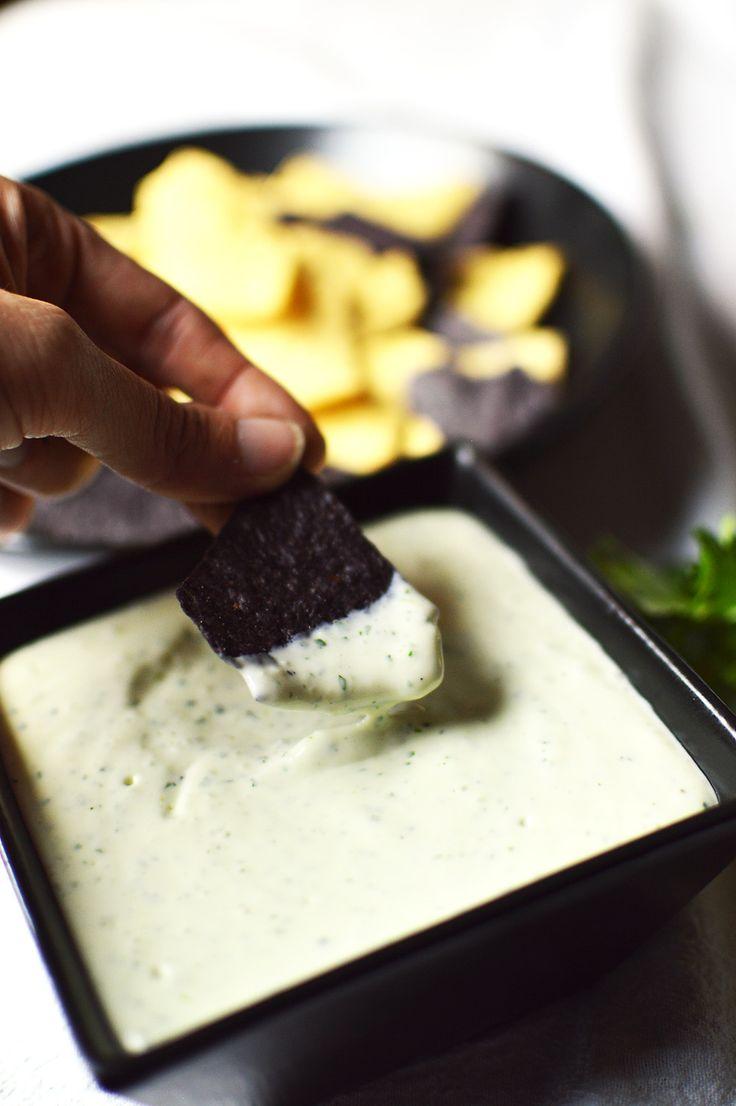 Chuy's Creamy Jalapeno Dip Instead of cilantro use dill