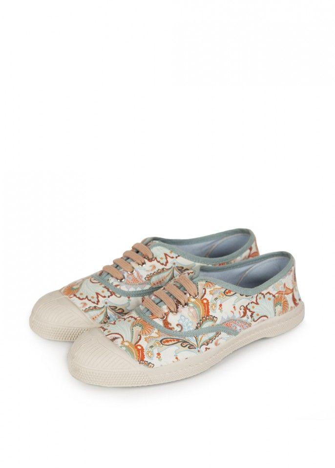 9a728c4d9d Tennis à lacets liberty pastel - bensimon | chaussures | Sneakers, Shoes et  Fashion