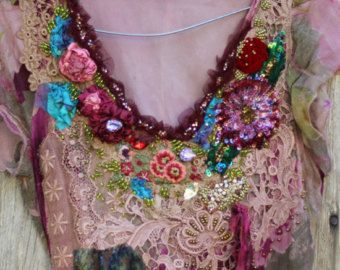 RESERVADO para JUDYVagabond túnica romántica por FleursBoheme
