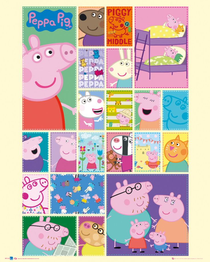 Peppa Pig - Grid - Official Mini Poster. Official Merchandise. FREE SHIPPING