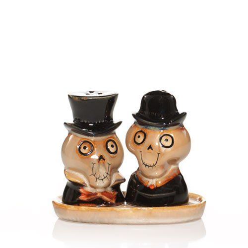 2010 Yankee Candle Halloween Boney Bunch - Salt & Pepper Shakers. #Salt #Pepper #shakerset #Figurine #Decor #Gift #gosstudio .★ We recommend Gift Shop: http://www.zazzle.com/vintagestylestudio ★