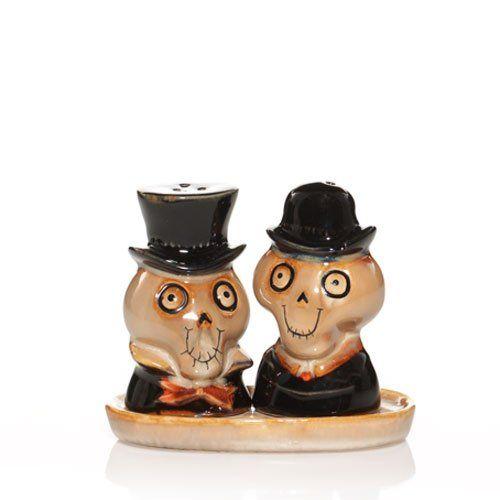 2010 Yankee Candle Halloween Boney Bunch - Salt & Pepper Shakers. #Salt #Pepper #shakerset #Figurine #Decor #Gift #gosstudio .★ We recommend Gift Shop: http://www.zazzle.com/vintagestylestudio ★