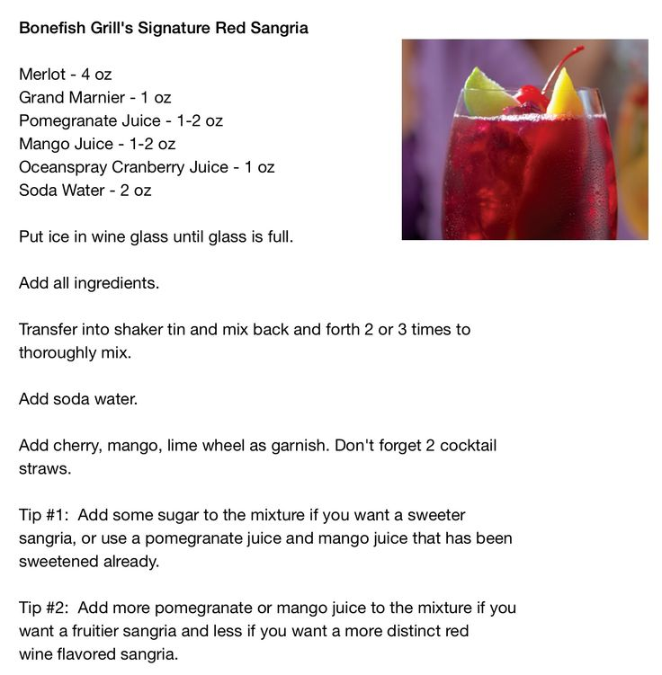 Bonefish Grill's Red Sangria