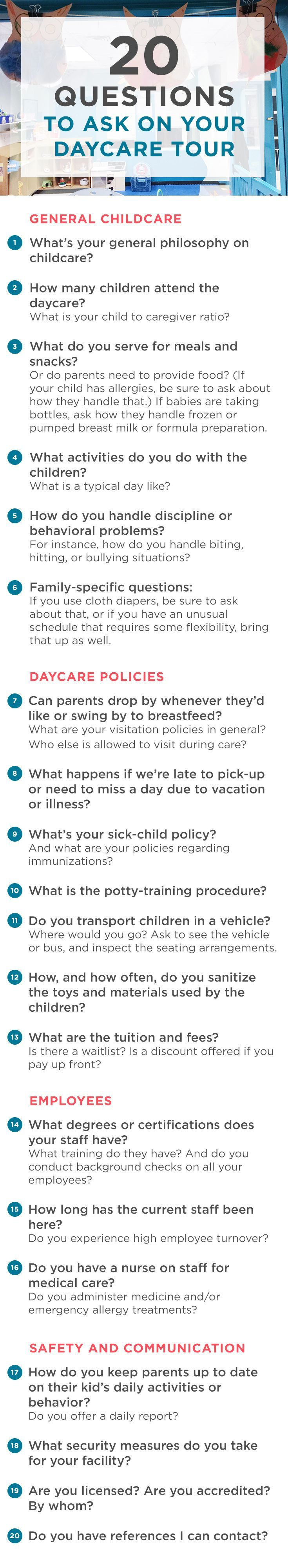 Read this before you tour your first daycare.