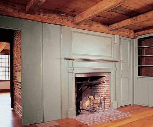 The north parlor of the 1768 Oliver Rice House. The Federal mantel was likely added in the early 1800s.