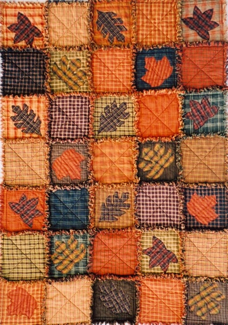 What I Like About Fall | Flannels for rag fall quilt | #fallquilt