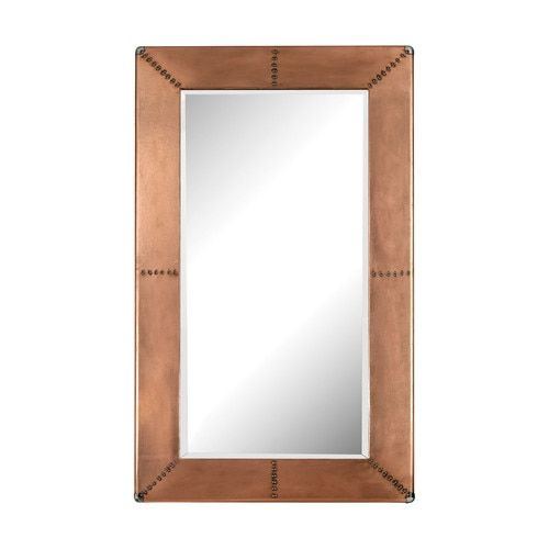 Copper Frame Mirror With Nail Head - 3100-011