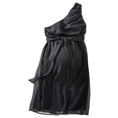 Liz Lange® for Target® Maternity One -Shoulder Special Occasion Dress - Black.Opens in a new window