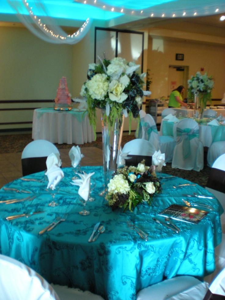 Malibu blue wedding reception wedding ideas pinterest for Blue wedding reception ideas