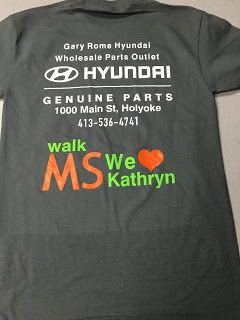 """News from Gary Rome Hyundai - 888-637-4279: A Special Thanks To Gary Rome Hyundai of Holyoke -""""Team Kdonn"""" would like to send a special thank-you to Gary Rome Hyundai of Holyoke for helping with the cause and providing personalized shirts for our team to sport during the 2.3 mile walk. Fundraising is never an easy task and it meant a lot to the team for Gary Rome Hyundai to jump on the opportunity to help out a good cause."""
