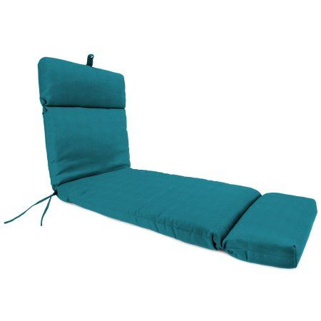 Jordan Manufacturing Outdoor Chaise Cushion, Spec/Peacock, Blue