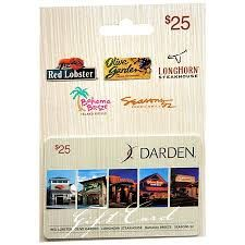 $25 Gift Card to Red Lobster, Olive Garden, Longhorn Steak House, Bahama Breeze, or Seasons 52