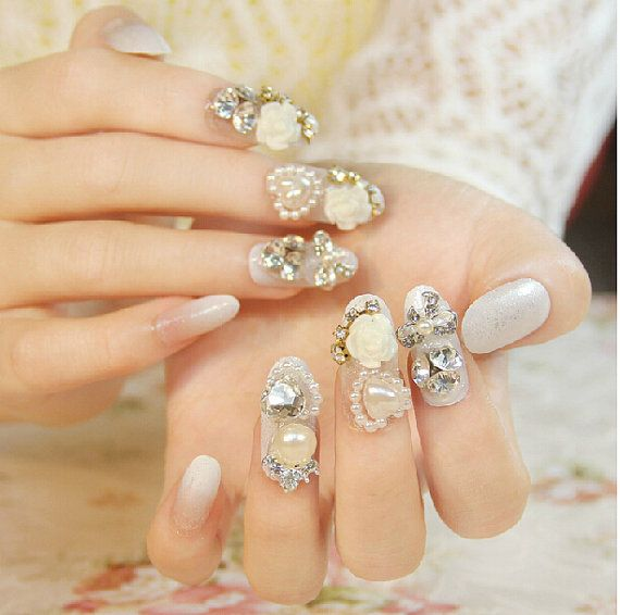 wedding acrylic nails