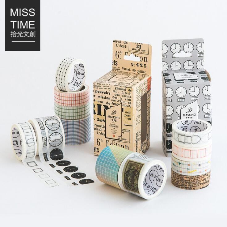 4 pcs/pack Color Time Newspaper Season Decorative Washi Tape Scotch DIY Scrapbooking Masking Craft Tape School Office Supply