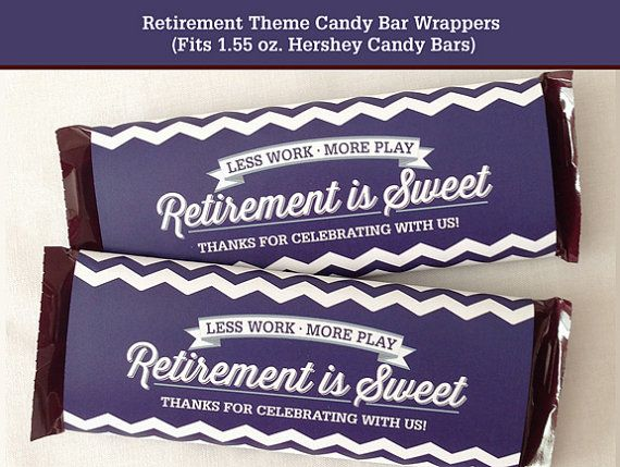 Retirement Candy Bar Wrapper Printable by LisaMariesaDesign, $5.00
