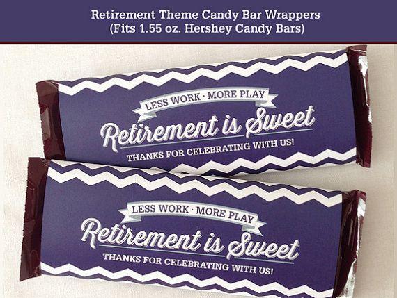 Retirement Candy Bar Wrapper Printable by LisaMariesaDesign, $5.00