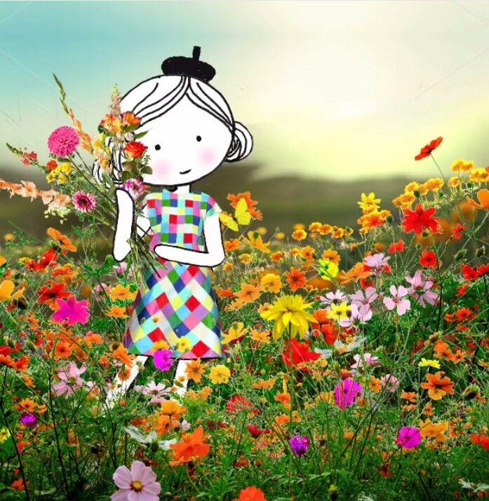 Annelinde Tempelman / Bosje bloemen plukken in het veld