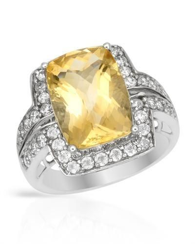 Size 7. Stylish cocktail ring with genuine citrine and cubic zirconia well made in 925 sterling silver. Total item weight 6.2g.  http://www.idealsmarter.com/?refid=31593e9f