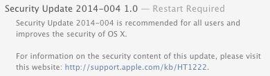 Apple Delivers OS X Mavericks 10.9.5, Security Update 2014-004