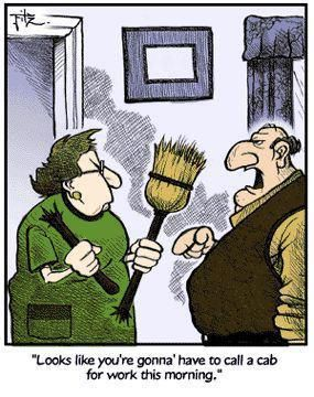 Funny Marriage Broom Broken Cab Cartoon | Funny Joke Pictures