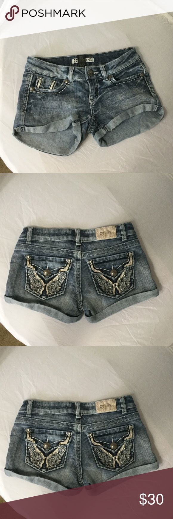 ZCO Jeans Shorts Like new, Size 0. ZCO Shorts Jean Shorts