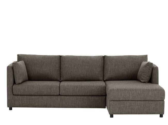 Milner Right Hand Facing Corner Storage Sofa Bed with Memory Foam Mattress, Chalk Grey