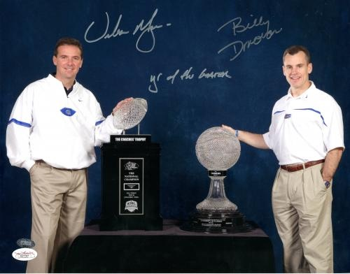 "Urban Meyer & Billy Donovan Signed 11x14 Photo with ""Year of the Gator"" Inscription - JSA #SportsMemorabilia #FloridaGators"