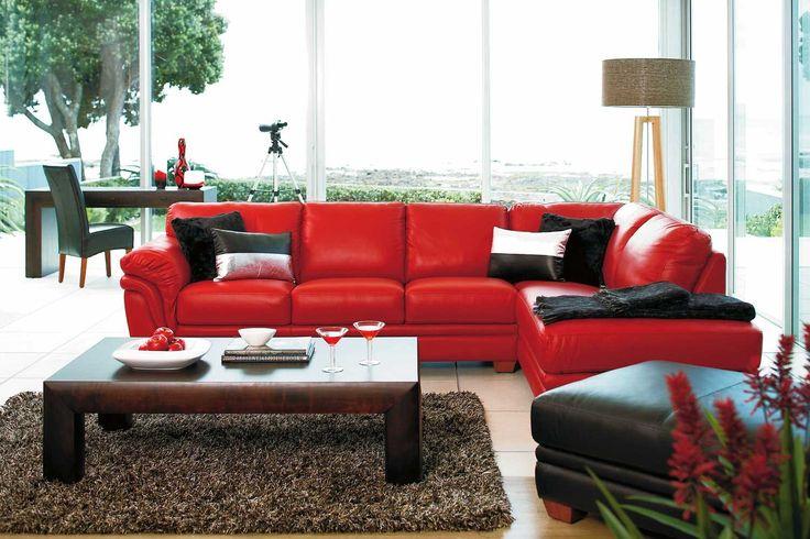Demi Leather Corner Lounge Suite by La-Z-Boy