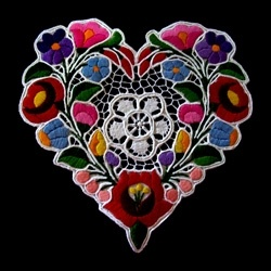 Embroidered Heart from Kalocsa