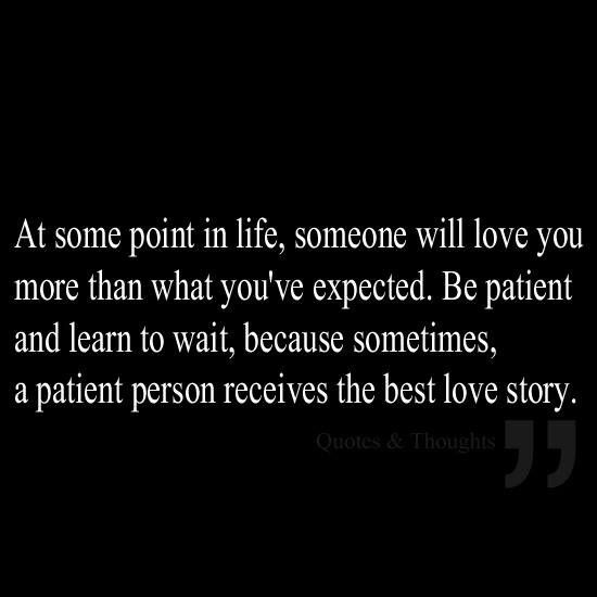 Love is patient... love is kind...... love never fails!