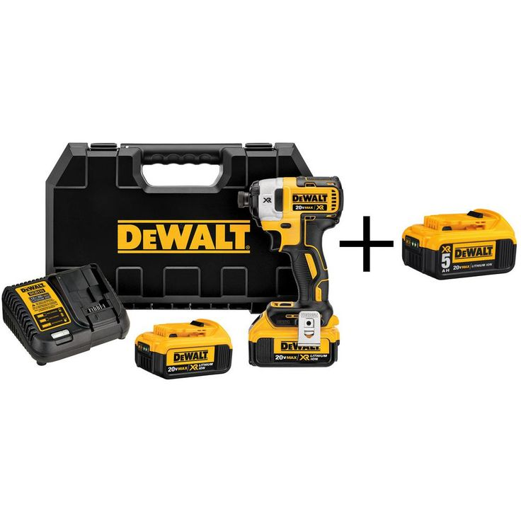 DEWALT 20-Volt MAX XR Lithium-Ion Brushless 1/4 in. Cordless 3-Speed Impact Driver with Bonus Battery Pack