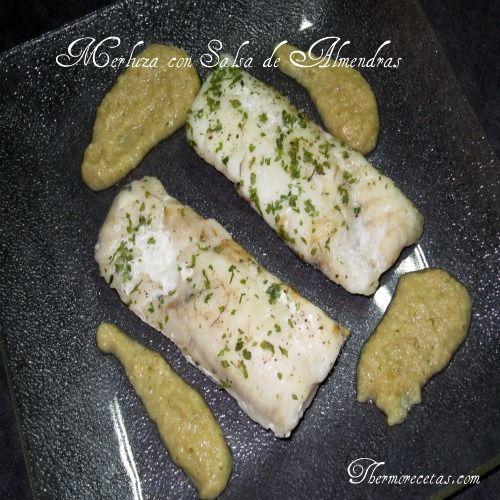 Merluza con salsa de almendras: Almond, Thermomix Pescado, Seafood, Merluza Salsa, Fish, Con Salsa, Sauce, Hake