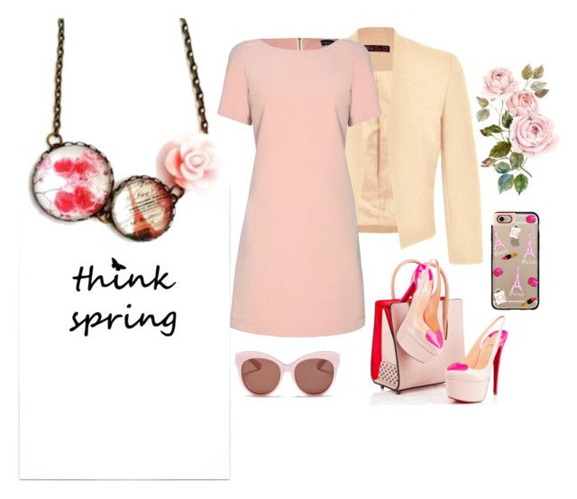 """""""Pink Paris"""" by hemos on Polyvore featuring Ally Fashion, Casetify, James Lakeland, Christian Louboutin, Blanc & Eclare, women's clothing, women, female, woman and misses"""