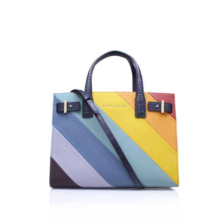 New Saffiano London Tote Multi-coloured Tote Bag By Kurt Geiger London | Kurt Geiger