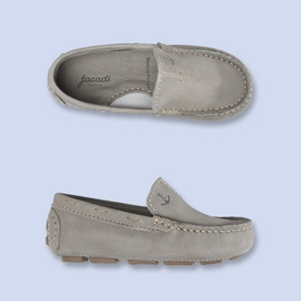 Children's Gray Nubuck moccasin