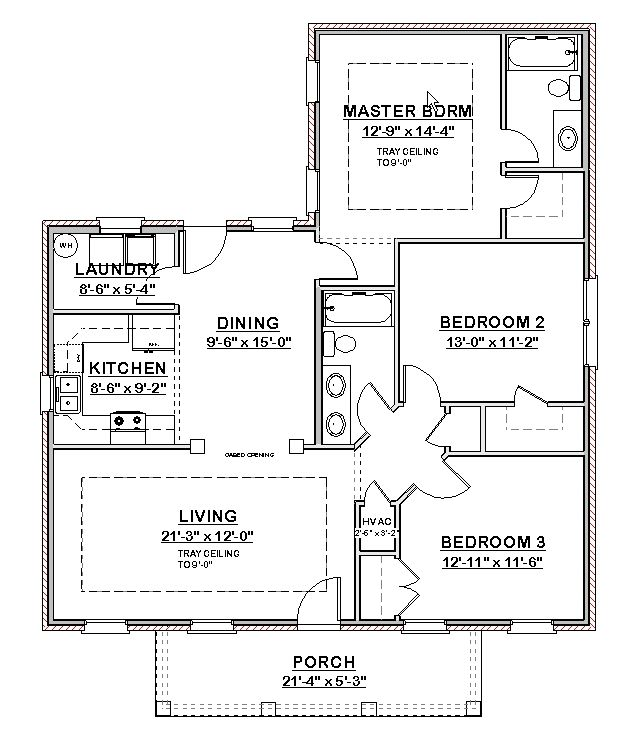 2000 Square Feet 3 Bedrooms 2 5 Bathroom French Country Plans 2 Garage 25108 furthermore House Plans additionally Bungalow House Plans also Plan Floor also 1000 1flr 2bd. on 3 bedroom 2 bath house plan 1 200 sf