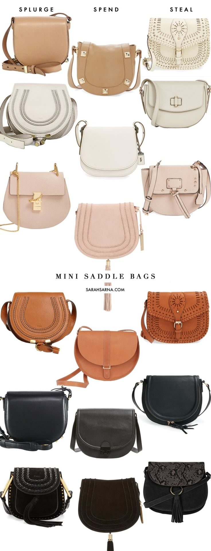 Winter Style Ideas. Winter Fashion and Winter Outfit Ideas. Splurge, Spend, or Steal?? Classic Mini Saddle Bags in every color.