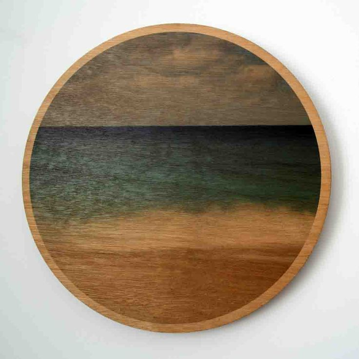 Jo Ward Photography Breaking On The Shore Wood Print Long exposure taken in Albany, Western Australia 290 mm diameter image printed directly onto 6mm marine grade plywood using UV print technology.  Comes complete with a ready to hang aluminium wall mount system