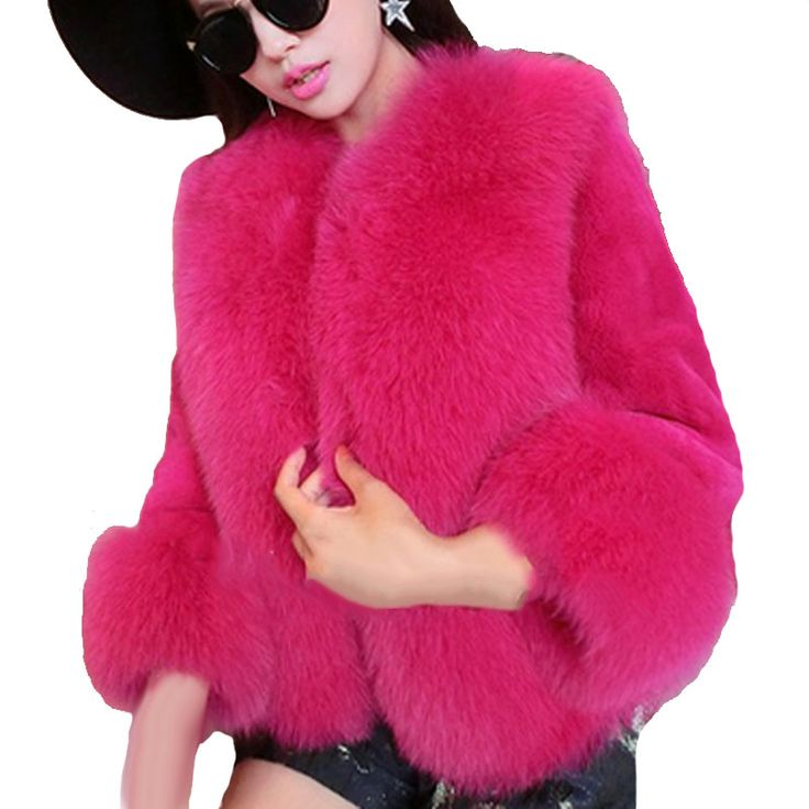 Winter women faux fur coats 2015 fashion rex rabbit thicken warm slim short fox fur collar outwear jackets WF913