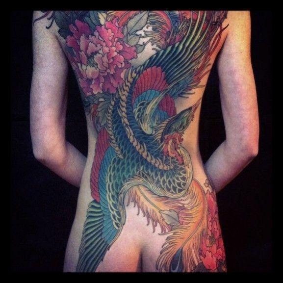 phoenix japonais recouvrant le dos | ink | pinterest | ave fenix