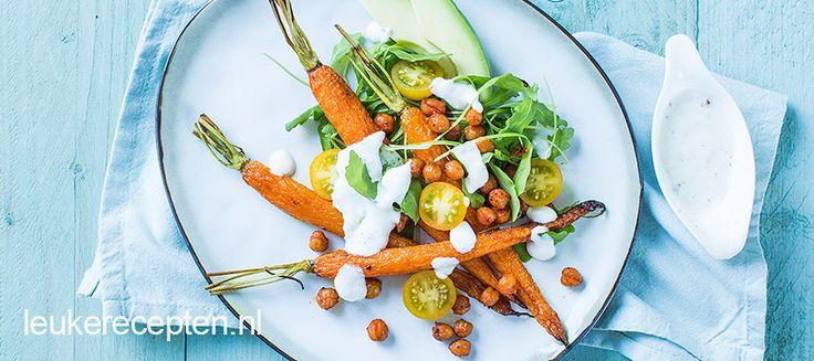 Feestelijke én gezonde salade om het kerstdiner mee te beginnen!