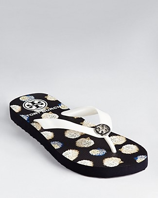 Tory Burch Flip Flops - Hedgehog Print | Bloomingdale's