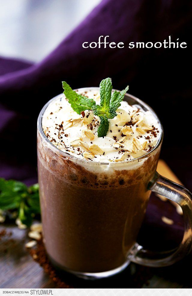 Ingredients 1 cup strong brewed coffee 1 banana 1/4-cu… na Stylowi.pl