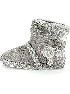 Zapatillas de casa tipo botines - Kiabi
