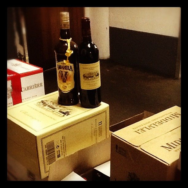 A very welcome arrival at #moyo .. That's VERY! -- #wine #amarula