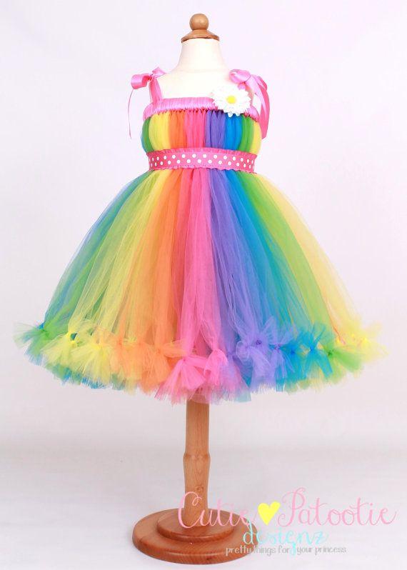 Rainbow Tutu Dress - Pastel Rainbow - Big Top Beauty.... I can make this (Tanya)