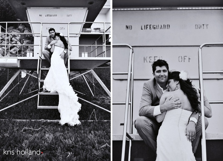 Jennifer & Jordan's Santa Cruz beach wedding by Kris Holland Photography.Beach Wedding