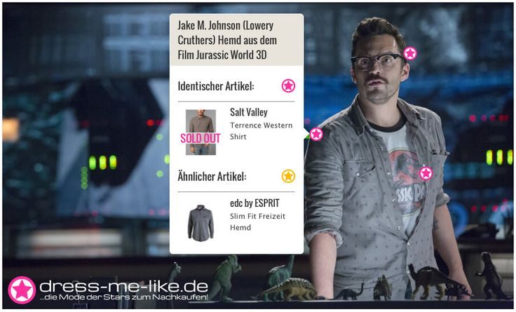 Jake M. Johnson (Lowery Cruthers) Hemd (Salt Valley) aus dem Film Jurassic World 3D