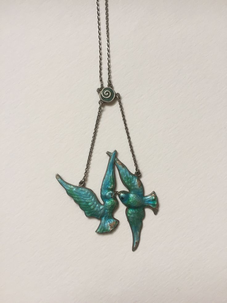 A Charles Horner Swallow Necklace by mitaineshop on Etsy
